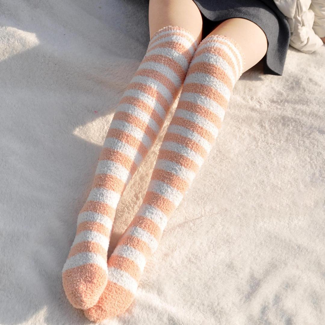 长筒保暖袜子女