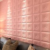自粘墙纸3d立体墙贴防撞软包客厅电视床头背景墙装 饰壁纸防潮贴纸