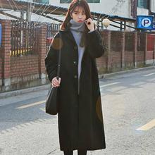 过膝学生chic呢子大衣 中长款 森系毛呢外套女2018流行秋冬新款 韩版图片