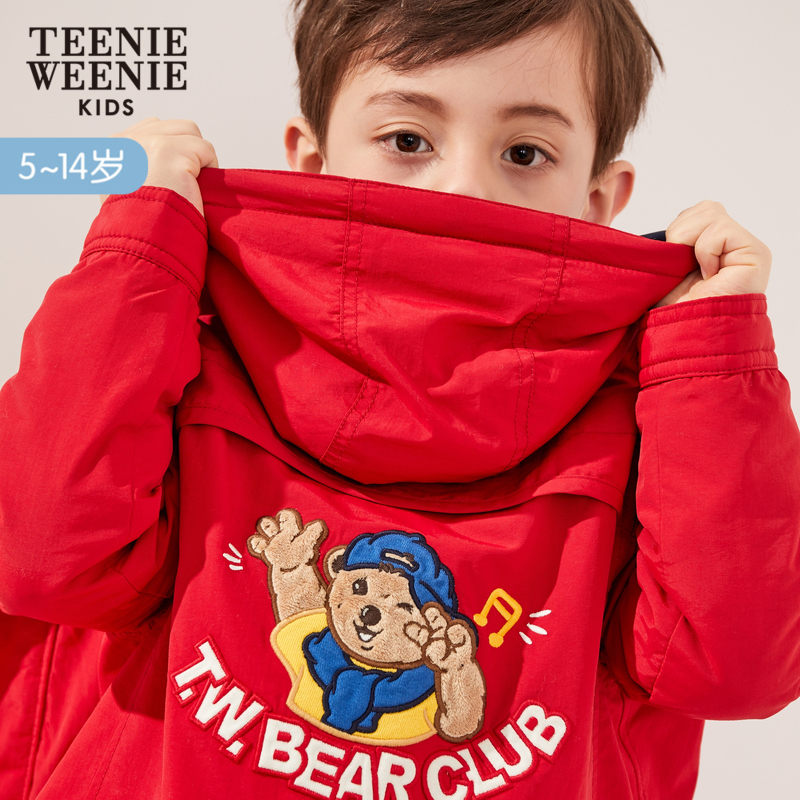 TeenieWeenieKids小熊2019春新款儿童薄棉外套洋气派克服男童棉服