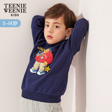 TeenieWeenieKids bear 2019 spring children's clothing boy cartoon sweater tide section TKMW91101K