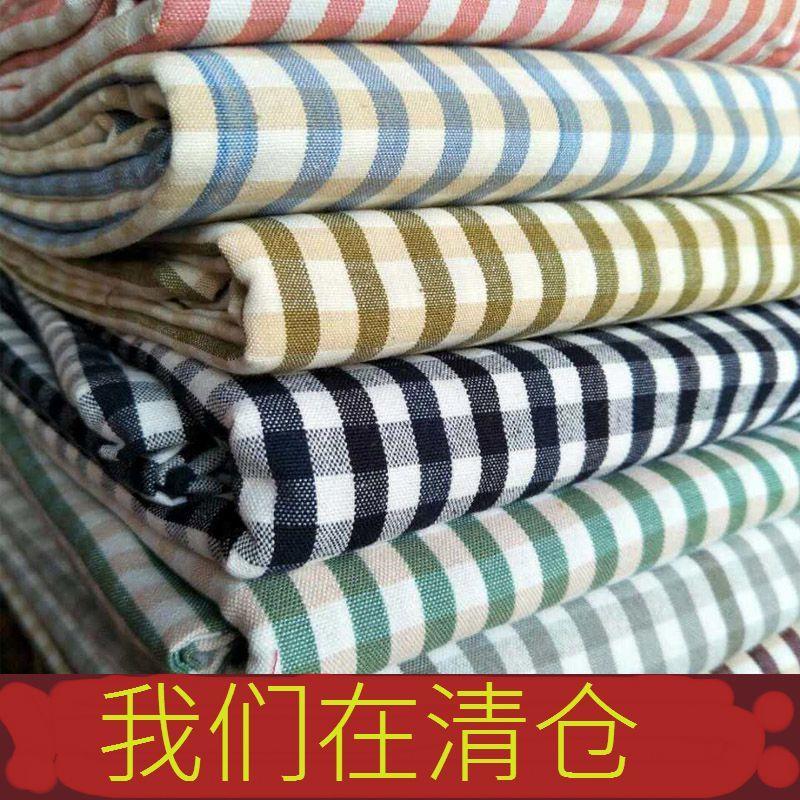 双人床全棉家纺纯棉山东博兴手工老粗布床单家居床上用品棉布条纹