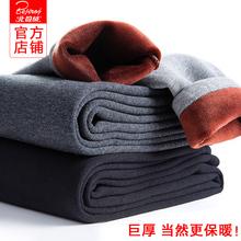 北极绒超厚保暖裤男青年冬季加厚加绒修身棉毛裤单件大码棉裤下装图片