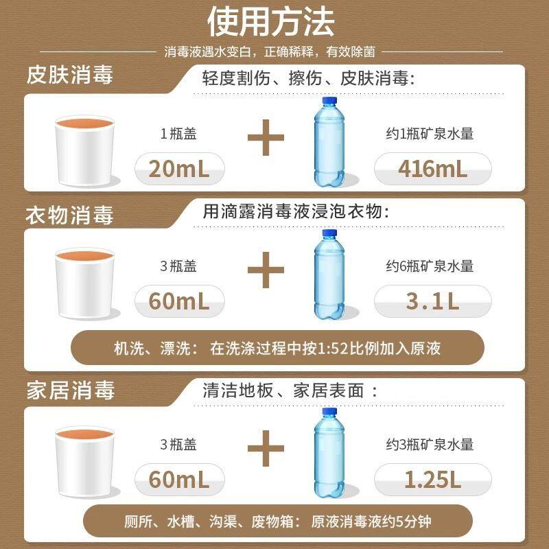 滴露消毒液抑菌洗手液瓶装组合衣物除菌家用洗衣机地板杀菌消毒水