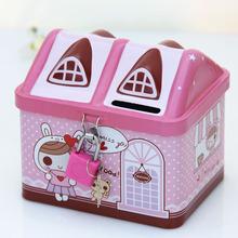 创意儿童礼品铁皮带锁存钱罐储蓄罐生日回礼幼儿园奖品活动小礼物