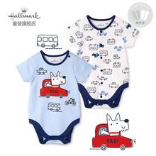 三角包屁衣两件装 春夏男婴宝宝婴儿纯棉短袖 Hallmark贺曼童装