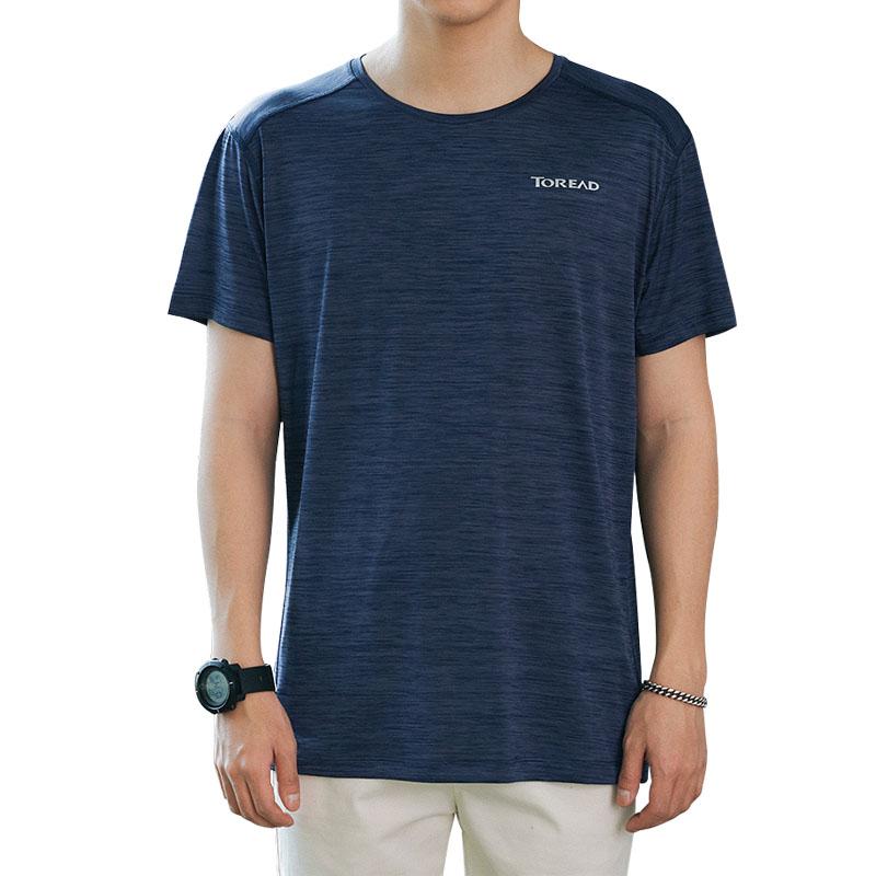 探路者速干T恤男 夏季透气户外速干衣圆领宽松上衣快干运动短袖女