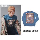 潮流复古兴趣图案时髦圆领纯棉T恤长袖 卫衣 Bronze Lucia男女款