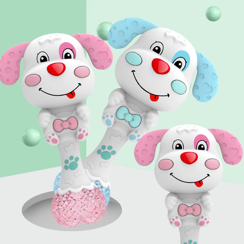 婴儿玩具0-1岁手摇铃音乐节奏棒男女小孩宝宝3-6-8-12个月5益智7