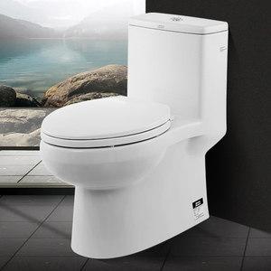 美标马桶卫浴家用小户型虹吸式防臭节水静音普通连体坐便器1858