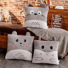 抱枕被子两用办公室午睡枕可爱折叠毯子汽车靠垫靠枕空调被三合一