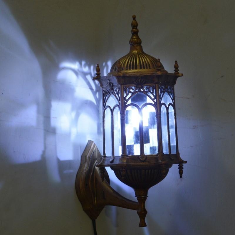 包邮复古美发转灯LED理发店转灯挂壁美发店转灯防水发廊旋转灯箱