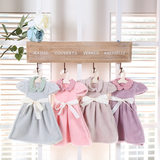 Korea cute princess dress towel kitchen hanging towel thickening absorbent bathroom handkerchief children small towel