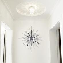 时尚个性现代简约创意挂钟客厅家用艺术装饰铁艺大气钟表创意时钟