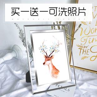 冲印洗照片 玻璃定制相片 10寸七寸创意韩版 水晶相框摆台7