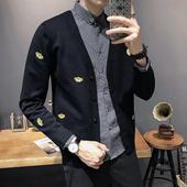 2019春秋季新款毛衣外套男休闲韩版潮流薄款外穿线衣男士针织开衫