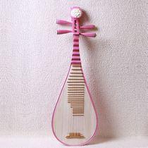 彩绘琵琶彩色粉色演奏练习初学者专用乐器儿童