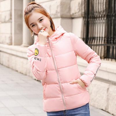 羽绒棉服女冬装2018新款修身短款棉衣初中学生韩版少女生棉袄外套