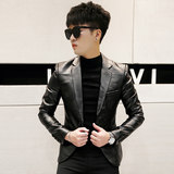Fall and Winter 2019 Student Men's Jackets, Leather Jackets, Korean Edition Skin Suits, Leisure Leather Suits, Tide Small Suits, Youth