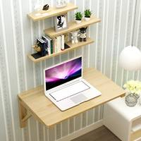 Dining table wall table folding wall hanging multifunctional wood folding table desk wall hanging table hanging on the wall table