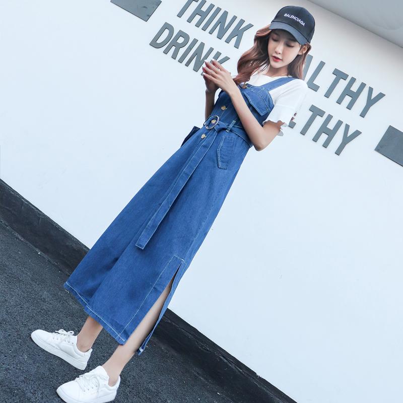 女夏显瘦背带裤