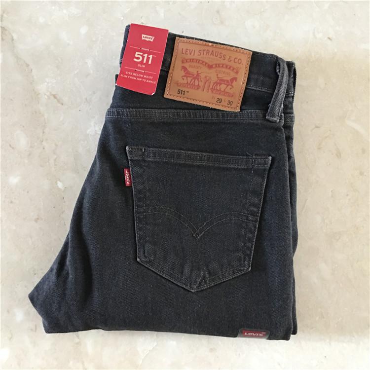 美国专柜采购 Levi's 511-2312 李维斯深灰色男士修身直筒牛仔裤,levi's李维斯牛仔裤