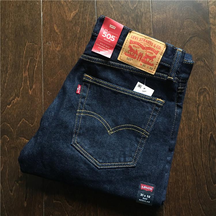 美国专柜正品  Levis 505-0216 李维斯深蓝原色男士直筒牛仔裤,levi's李维斯牛仔裤