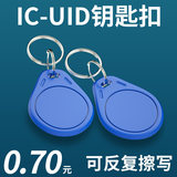 IC-UID card IC card button can be copied Carmen ban card key button community property elevator card ID card can wipe the card buckle CUID white card drop glue access card induction card electronic lock key button