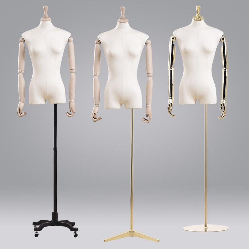 模特道具女半身服装店大码女装假人模型可升降人体模特衣服展示架