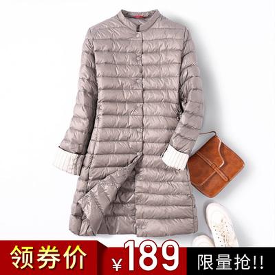 轻薄羽绒服女中长款2018新款女装韩版女款时尚潮冬装外套女宽松