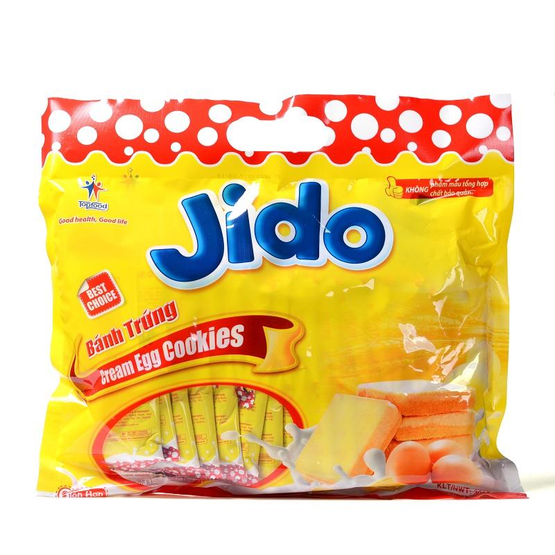 越南Jido鸡蛋牛奶味面包干300g营养早餐蛋糕点休闲零食品3包包邮,网红进口零食面包干