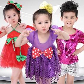 六一儿童演出服亮片小荷箱子里的梦风采一致舞蹈步调纱裙蓬蓬裙女