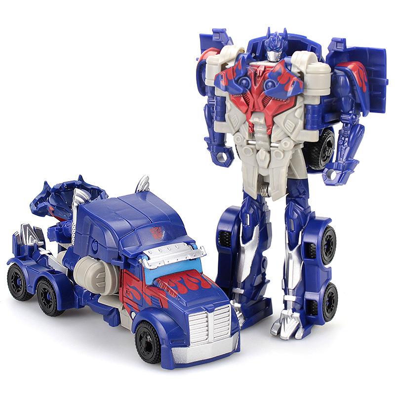 男孩变形玩具金刚擎天大黄蜂警车汽车机器人幼儿童益智力手拼玩具