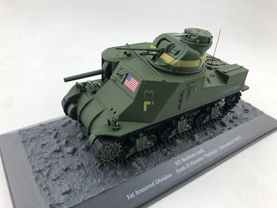 1/43 M3 medium tank 1st armored division中型坦克模型合金成品