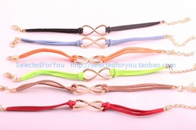 1pc 8 Words Lucky Friendship Bracelets Infinity Love Couples