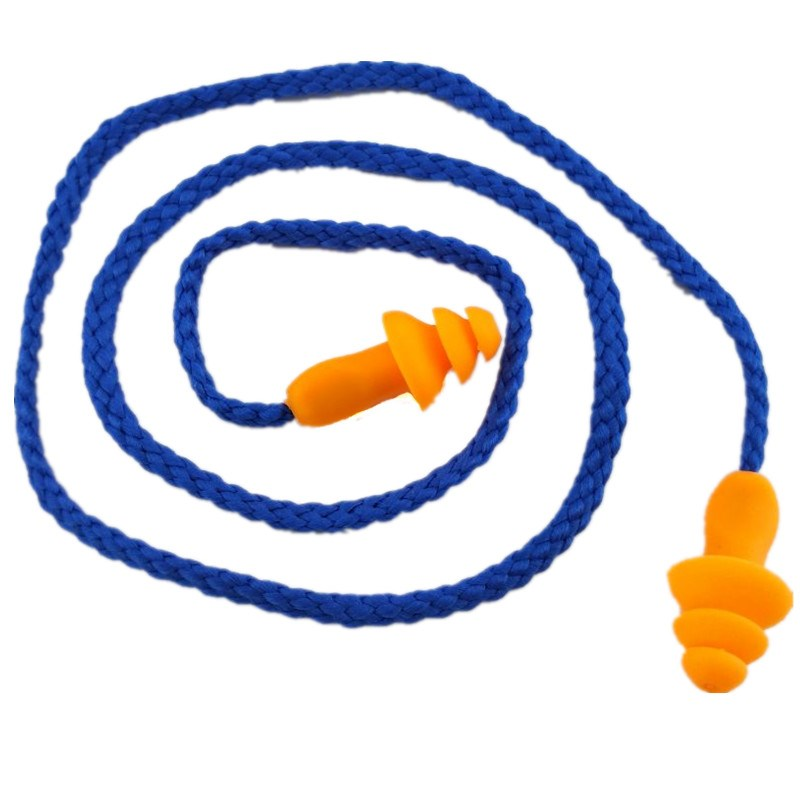 可水洗工业3防噪音1270m耳塞/隔音耳塞带线学生睡觉游泳圣诞树型