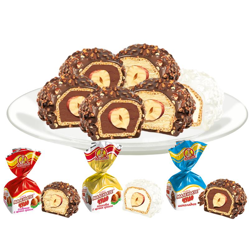 俄罗斯进口slavyanka果仁夹心巧克力糖果 葡萄干500g 休闲零食