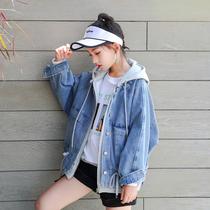 骄骄虎2019秋装新款大童牛仔外套女童12-15岁 韩版 短款 洋气8170