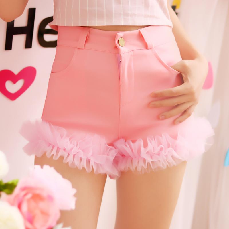 可爱蕾丝边女短裤