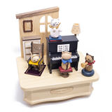 Taiwan Jeancard wooden rotating music box octave box ornament Wooderful Life Sen live wood fun