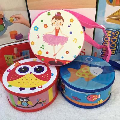 儿童手拍玩具小鼓 幼儿园教具宝宝敲打鼓男孩女孩1-3岁奥尔夫乐器