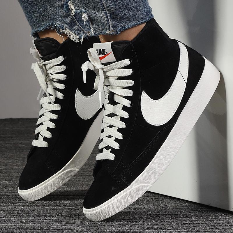 Nike耐克官网旗舰女鞋板鞋女冬季新款正品BLAZER开拓者高帮休闲鞋