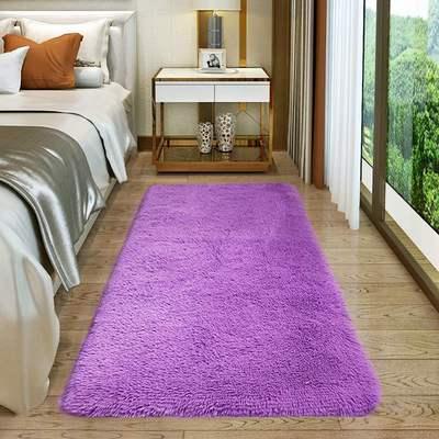 客厅茶几榻榻米床前地毯卧室满铺房间可爱长毛绒家用长方形床边毯