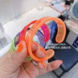 Korean Children's Handrings Imported Girl Accessories Net Edition Fluorescent Acrylic Open Bracelet Candy Handwear