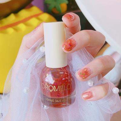 糖梅子指甲油草莓红指甲油斩男色指甲油夏天指甲油 少女仙女学生