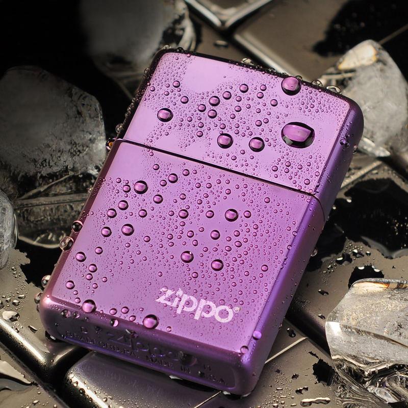 打火机ZIPPO正版 紫冰标志24747ZL刻字定制 芝宝原装正品男士zppo