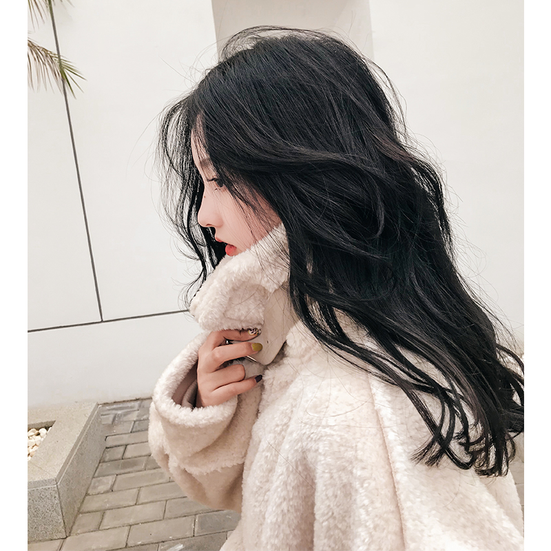 炫迈妹儿 lamb fur coat female 2018 new chic loose stand