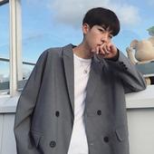 宽松百搭西装 秋季潮流学生chic休闲时尚 夹克外套 港味潮男韩版 男士图片