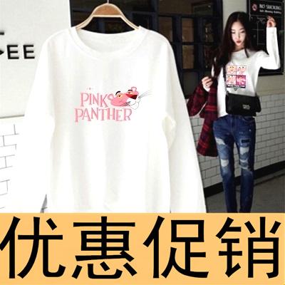 卫衣2018新款女秋装长袖T恤韩版宽松学生春秋季薄款上衣加绒外套
