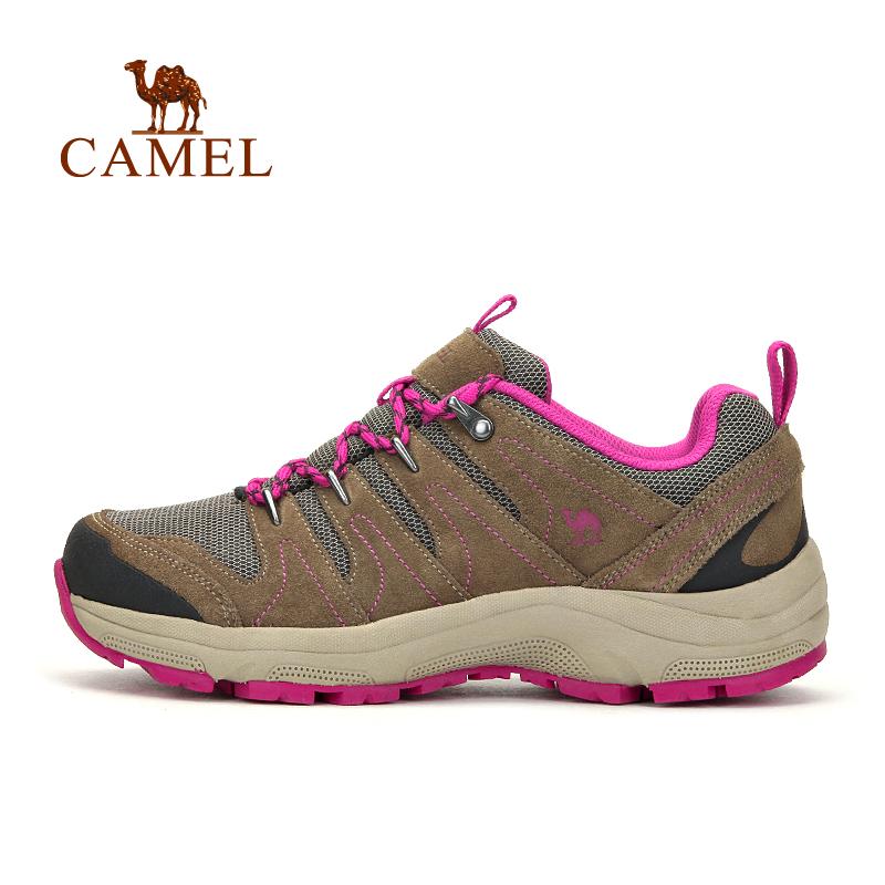 骆驼女鞋户外情侣款男女防滑减震透气徒步鞋 中年女运动鞋子Camel